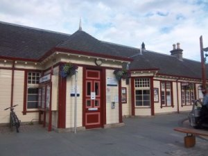 Der Bahnhof im beschaulichen Aviemore