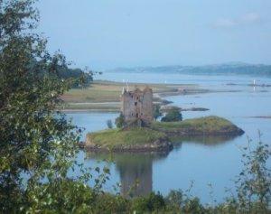 Castle Stalker in der Nähe von Port Appin