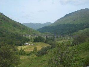 Nur 2x täglich befahren: das Glenfinnan Viadukt