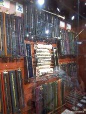 Für Harry Potter-Fans ein Muss: Die Zauberstababteilung im Spielwarengeschäft Hamley´s