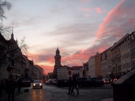 Traumhafter Spät-Nachmittags-Himmel nach dem Besuch des Schlesischen Christkindelmarktes in Görlitz