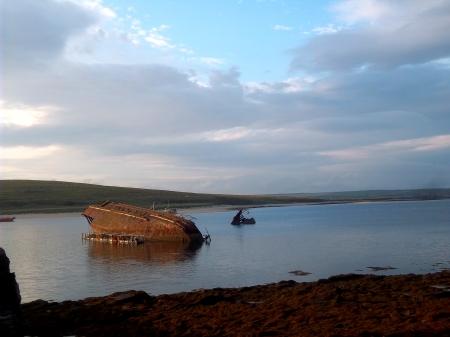 Schiffswrack in Scapa Flow (Orkney)