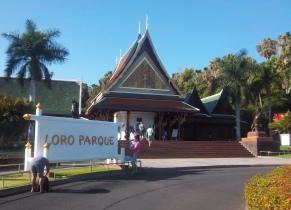 Hier gehts zu den Aras: der Eingang des Loro-Parque
