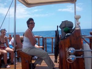 Kapitän Isabel auf der Peter Pan