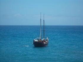 Ausblick aufs Meer und auf andere Whale-Watcher