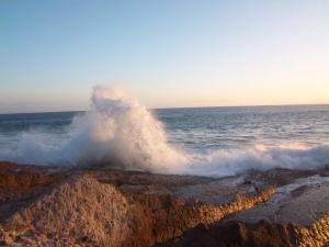 Beeindruckend wie die Wellen sich brechen