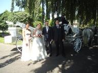 Brautpaar und Trauzeugen