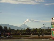 Ausnahmsweise klare Sicht: Der Cotopaxi in den Anden