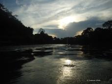 Abendliche Spazierfahrt auf dem Rio Arajuno