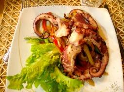 Mein Abendessen: leckerer Oktopus