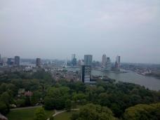 Ausblick vom Euromast auf die Erasmusbrücke