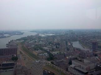 Überblick über Rotterdam vom Euroscoop aus