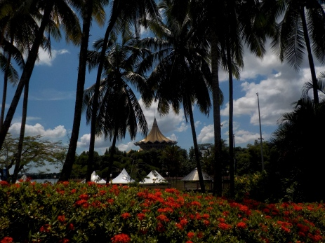 Blick auf das Parlamentsgebäude