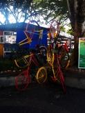 Kunst von einem Fahrradverleih