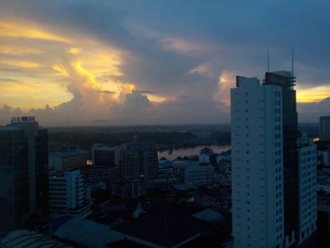 Sonnenaufgang in Kuching