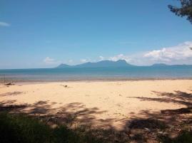 Blick auf Borneo mit dem Santubong-Berg