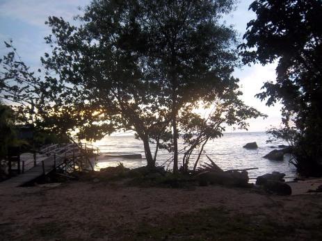 """Unser """"erster"""" Strand bei Flut und in der Abenddämmerung"""