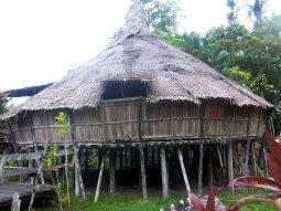 Die typische Behausung der Bidayuh