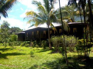 Hier ein Melanau-Langhaus