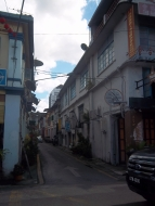 Spaziergang durch Kuching zurück zum Hotel
