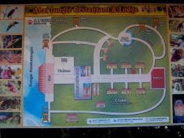 Lageplan der Abai Jungle Lodge - leider nicht mehr ganz aktuell