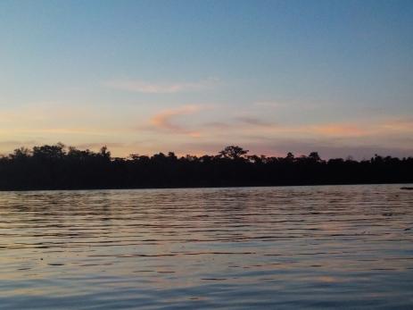 Sonnenuntergang in zarten Farben