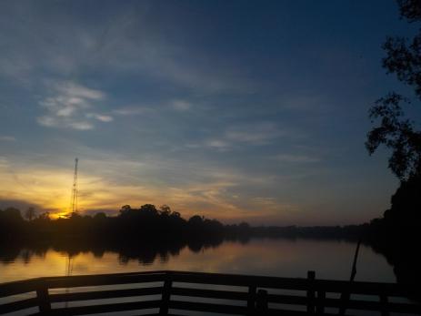 Sonnenaufgang am Kinabatangan