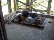 Die Feuerstelle ist außen angelegt