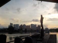 Riesige Hotels prägen das Stadtbild von Kuching