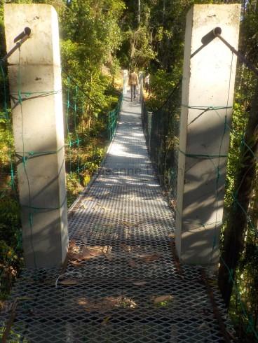 Auch ein kleiner, aber dafür sehr stabiler Canopy-Walkway ist gebaut worden