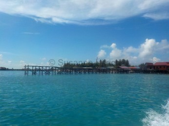 Anfahrt auf Pulau Mabul