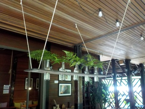 Hübsche schlichte Deko im Sepilok Nature Resort