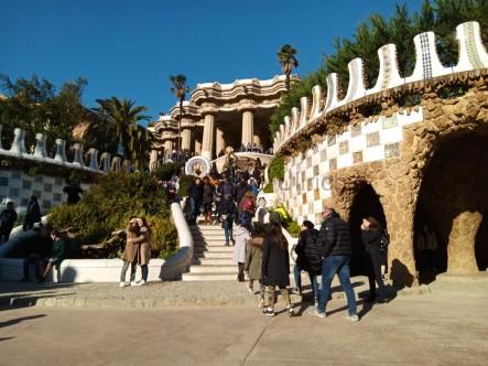 Die berühmte Freitreppe mit dem Chamäleon