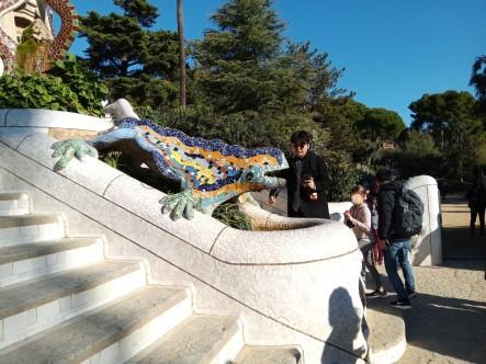 Das Chamäleon ist ein beliebtes Motiv und so gut wie nicht ohne andere Touristen zu fotografieren