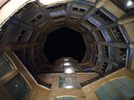 Blick vom 1. Innenhof nach oben