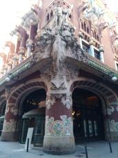 Der Palau de la Musica Catalana von Außen - eine Konzerthalle