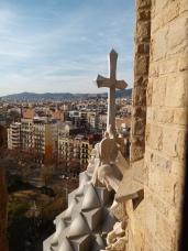 Auf dem Turm der Sagrada Familia