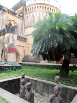 Die Anglikanische Kathedrale am Standort des ehemaligen Sklavenmarkt