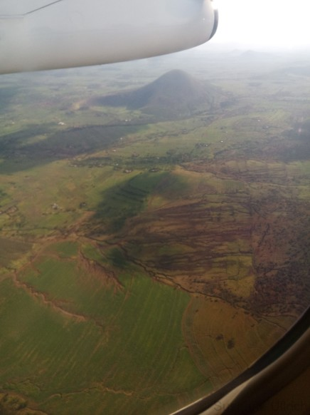 Im Anflug auf Arusha