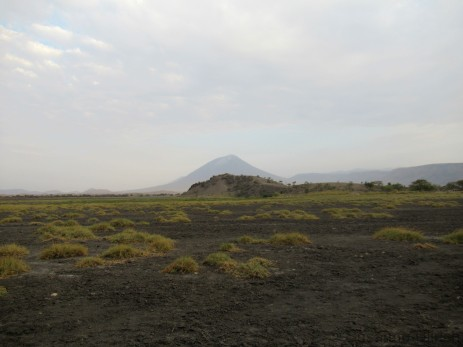 Am Rande des Lake Natron