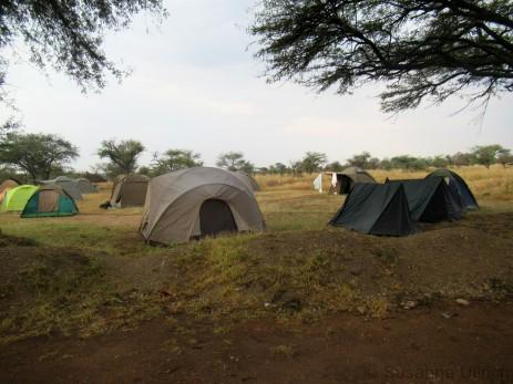 Unser Zeltplatz am Morgen
